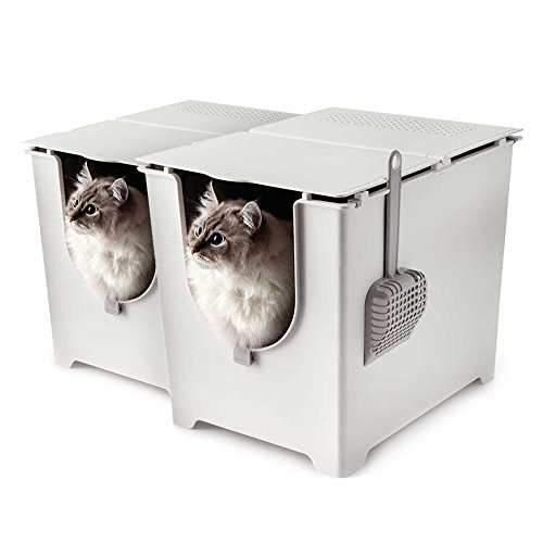Modkat Flip Litter Box with Scoop and Reusable Liner, 2-Pack