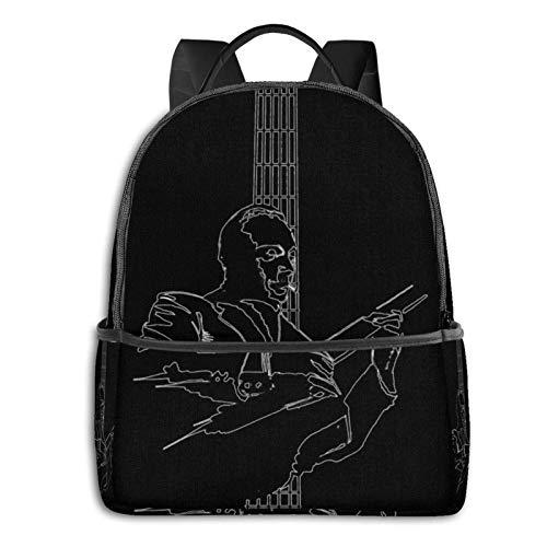 zhengdong Django Reinhardt Zigeuner Jazz Gitarrist Gitarre Pullover Hoodie Schüler Schultasche Schule Radfahren Freizeitreisen Camping Outdoor Bapa
