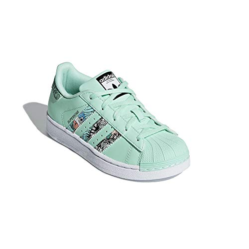 adidas Niño Superstar C Zapatillas Verde, 35