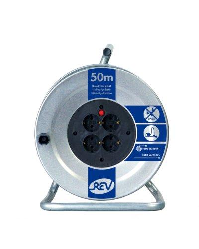 REV Ritter 008839 Stahlblech Kabeltrommel 50 m H05VV-F3G15