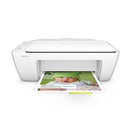 HP Deskjet 2130 (F5S40B) All-in-One Multifunktionsdrucker (A4 Drucker, Scanner, Kopierer, Hi-Speed USB 2.0, Druckauflösung: 4.800 x 1.200 dpi) weiß