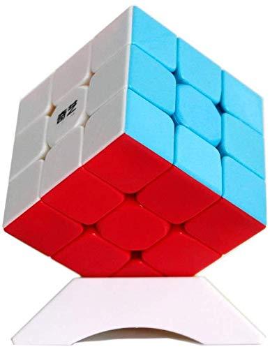OJIN Warrior W 3x3 Speed Cube Puzzle 3 Capas Warrior W Yongshi 3x3x3 Cubo mágico Liso con un trípode de Cubo (Sin Etiqueta)