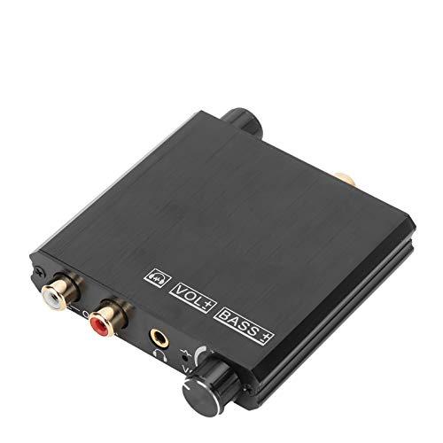 Tomanbery Reducción de Ruido electrónico Calidad de Sonido Tecnología antiinterferencias Carcasa de Metal Convertidor de Alto Rendimiento Spdif coaxial para Adaptador de Conector RCA de 3,5 mm