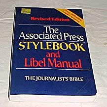 The Associated Press Stylebook and Libel Manual The Journalist's Bible Paperback