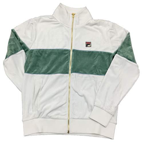 Fila Rocco Herren-Trainingsjacke mit Reißverschluss vorne, Velours -  -  Groß