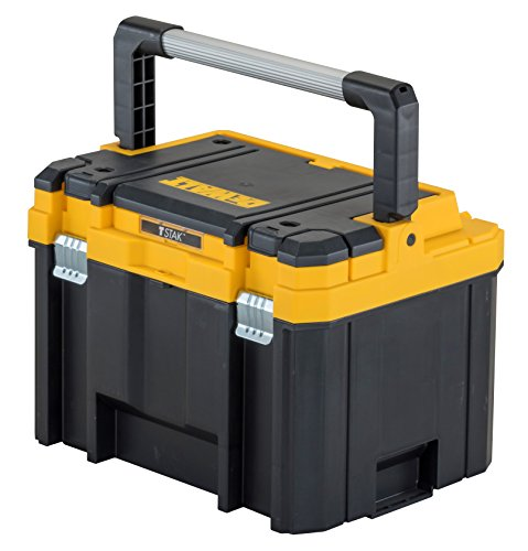 Dewalt TSTAK Maxi-Box (mit breitem Metallgriff und rostfreie Schließen, kombinierbar mit anderen Tstak-Boxen, sichere Verwahrung von Elektrowerkzeugen und Handwerkzeugen) DWST1-75774