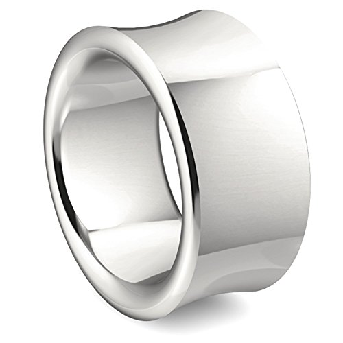 massiver Silberring Goldschmiedearbeit (Sterlingsilber 925) 12 mm breit - schwerer Silber-Ring
