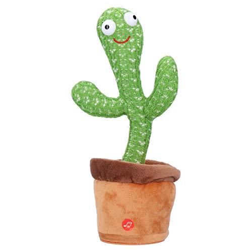 Cactus knuffel, Grappig Schattig Elektronisch Schudden Dansen Muziek Babyspeelgoed, Kronkelen Muzikaal Dans educatief speelgoed met plantenpot Verjaardagscadeau voor peuter Kinderen Huisdecoratie