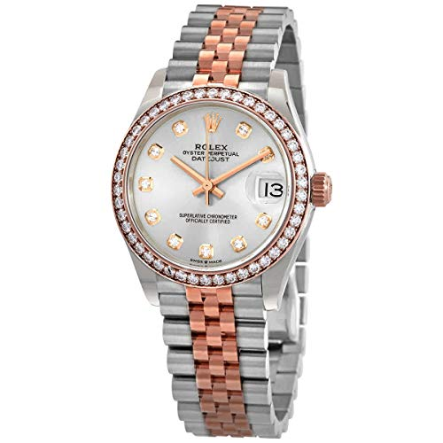 Rolex Datejust 31 Silver Diamond Dial Automatic Ladies Steel and 18kt Everose Gold Jubilee Watch 278381SDJ
