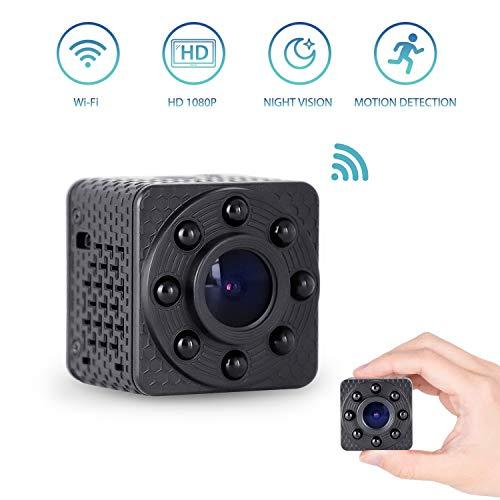 Wimaker Mini WiFi Cámara espía IP con visión Nocturna para el hogar Cámara de vigilancia de Seguridad inalámbrica con Dos vías de Voz Intercom Almacenamiento en la Nube Deportes DVR