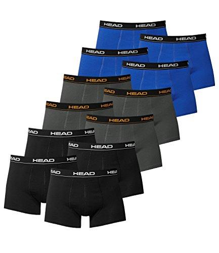 Head–Herren-Boxershort Basic, 12er-Pack Large 4x Schwarz / 4x Dark Shadow / 4x Blue/Black