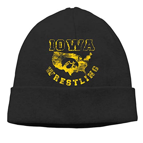 TAOTOUMAO Io-wa America Wrestling Unisex Knit Beanie Hat Black