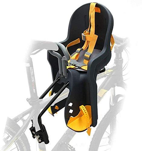 Asiento de la bicicleta niño con reposabrazos y Pedal rápido desmontaje de bicicletas Carrier frontal del asiento del asiento del bebé de los niños, uso de bicicletas híbridas, Bicicletas fitness, bic