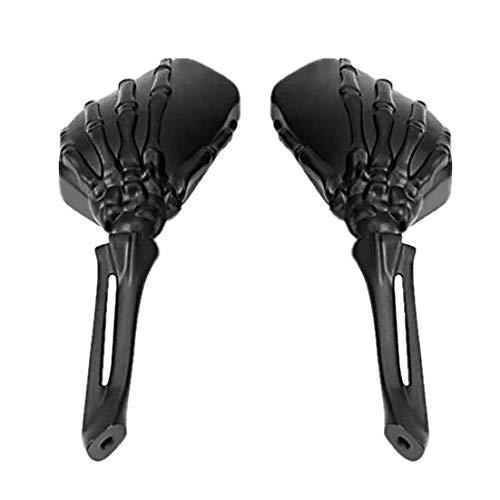 Rétroviseur Main Squelette pour Harley Dyna Wide Glide, Night-Rod Special Noir