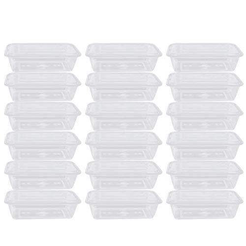 Hemoton 50 Stück Einweg-Bento-Box Klarer Obstsalat Mittagessen Herausnehmen Behälter mit Deckel Mahlzeit Lebensmittelverpackungsbox für Camping-Restaurant (500 Ml)