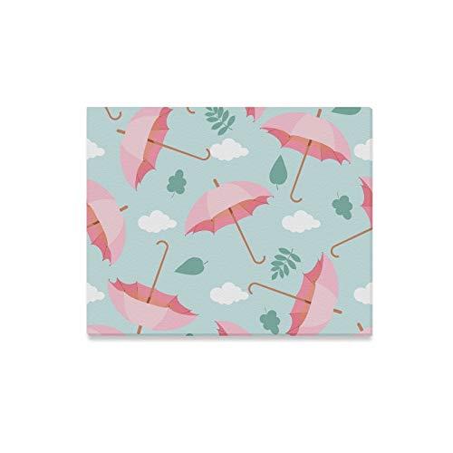 XiexHOME Wandgemalte Regenschirm Clolrful Design Modell Moderne Wandkunst Leinwand Beste Wanddekoration Druckdekor für Zuhause 20x16 Zoll