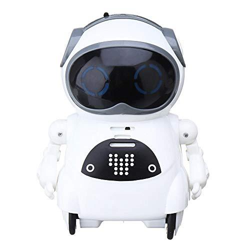 GFBVC Robot Caminar Creativa del Niño Elegante Electrónico Robot Dance Music For Niños Juguetes Educativos del Bebé Animación Infantil (Color : White, Size : 6.5x5x8.5cm)