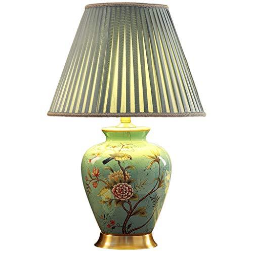 Lampe de table F Lampe de table en céramique Voice Intelligence American Retro Salon Chambre Lampe de chevet