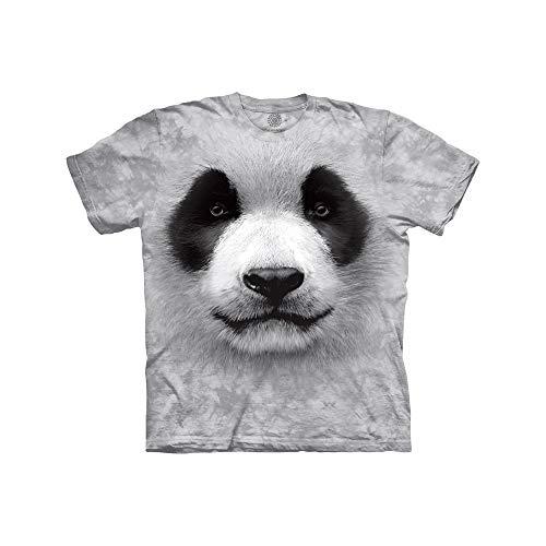 The Mountain Big Face Panda Child T-Shirt, Grey, Small