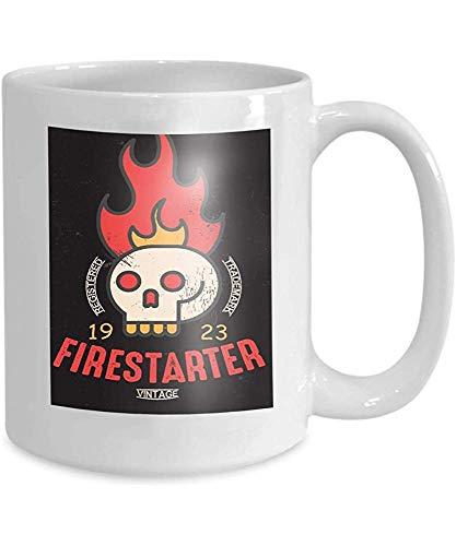 qinzuisp beker koffie thee mok vintage print design Firestarter geometric Dreamy 110z