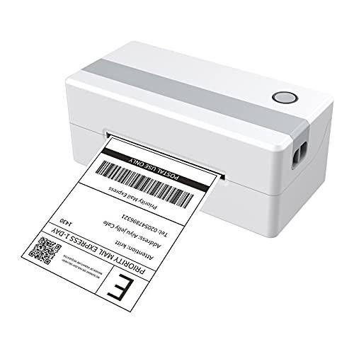 Zwbfu Impresora,RP421 Impresora de etiquetas de envío Impresora térmica de etiquetas de escritorio USB Fabricante de etiquetas térmicas directas comerciales 110 mm de ancho Ajustable 150 mm/s