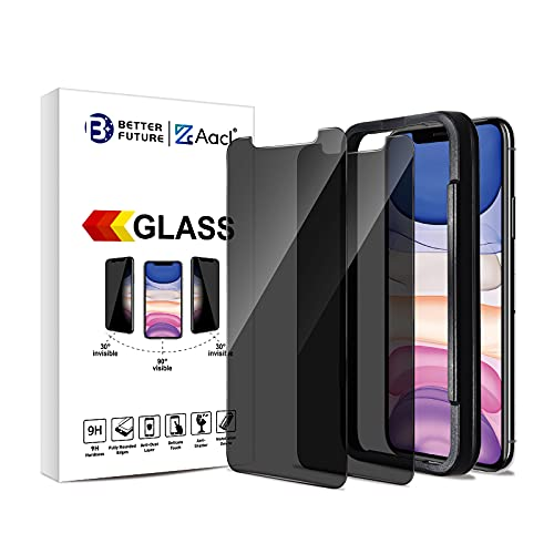 Glass Privacy Screen Protector for iPhone 11 Pro Max XS Max,6.5-Inch,Anti Spy Tempered Glass Film,2-Pack