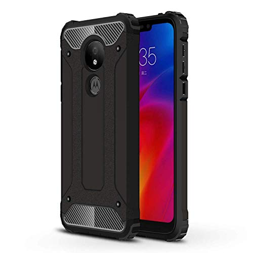 Ramcase Funda Moto G7 Power Doble Capa Textura de Fibra de Carbono Elegante Anti-Huellas Case Resistente…