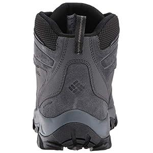 Columbia Men's Newton Ridge Plus II Suede Waterproof Boot, Breathable with High-Traction Grip Hiking, shark, black, 10.5 Regular US