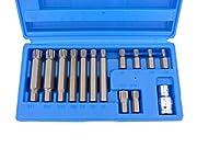 """6 RIBE Bits 30mm lang: M5-M6-M7-M8-M10-M12 7 RIBE Bits 75mm lang: M7-M8-M9-M10-M12-M13-M14 1 Bithalter mit 1/2"""" Antrieb Material: S2 Stahl"""