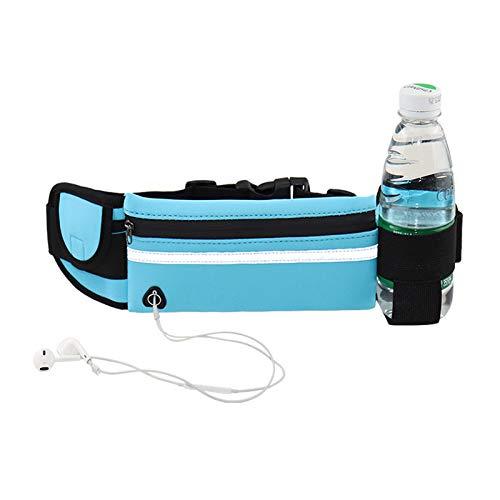Cinturón para correr con bolsillo de cintura para entrenamiento, bolsillo impermeable y reflectante, adecuado para fitness, trotar y senderismo, soporte para teléfono móvil, cinturón de bolsillo