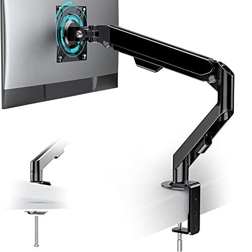 ATUMTEK Monitor Halterung 1 Monitor - Höhenverstellbar Monitorhalterung Schreibtisch mit C-Klemme oder Tüllenmontage für 15-30 Zoll LCD LED Bildschirme