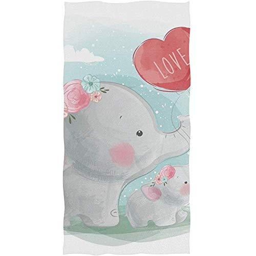 Exking Mama-baby-olifant, de ballonhanddoeken voor badkamer-gast-handdoeken veelzijdig voor gymzaal en hotel