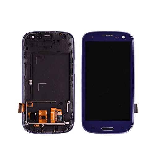 Replace screen Adatta per Samsung Galaxy S3 I9300 Display LCD Digitalizzatore touch screen Touch Screen + Botton della casa Il telaio della cornice del montaggio completo può essere regolare la lumino