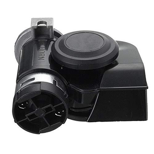 HIN GU Autoclaxon, moderne, eenvoudige en elegante tweeton-drumpet, luidspreker, 130 dB, elektrische pomp, lucht-hoorn-motorfiets, auto-vrachtwagenboot, gemodificeerde onderdelen van luchthoorn Zwart