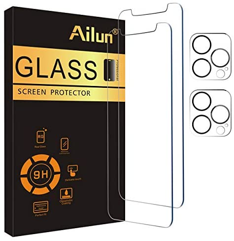 Photo of Ailun 2 Pack Screen Protector Compatible for iPhone 12 Pro Max[6.7 inch] + 2 Pack Camera Lens Protector,Case Friendly Tempered Glass Film,[9H Hardness] – HD