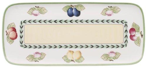 Villeroy & Boch Charm & Breakfast French Garden Plat de service à gâteau, 35x16 cm, Porcelaine Premium, Blanc/Multicolore