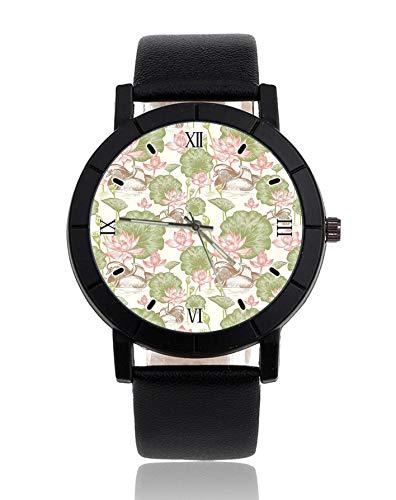Fiori Lilies orologio da polso cinturino in pelle orologio casual orologio per donna