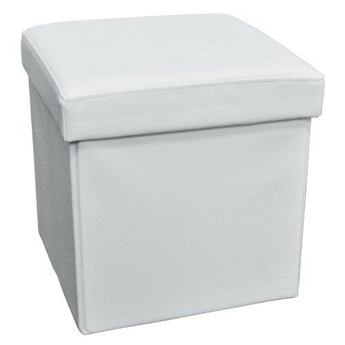 折りたためる!収納できる!ボックススツール 収納ボックス スツール オットマン スツール リビングチェア 色 ホワイト