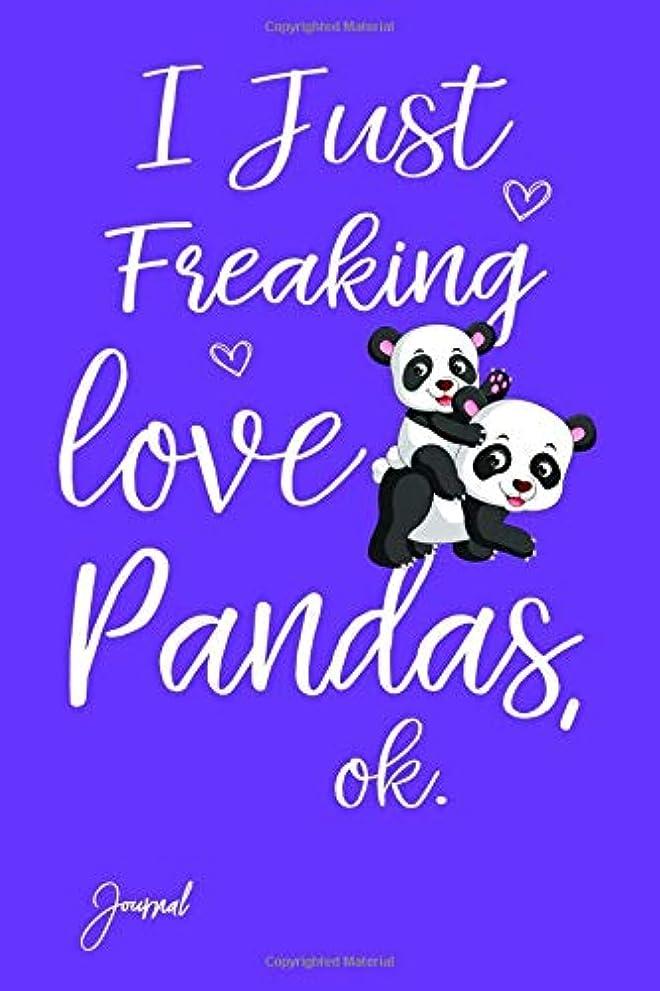 耐久しなやかな明らかI Just Freaking Love Pandas Ok Journal: Dot Grid Journal Notebook With 160 Dotted Pages 6