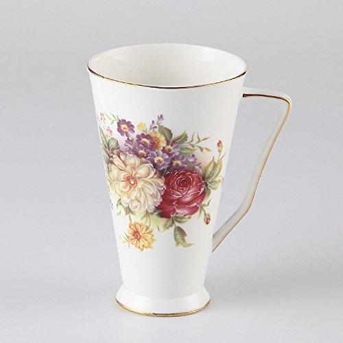 SHJ europäische Porzellan - Tasse Tee Knochen runde Marke Cup europäischen Knochen Porzellan - Tasse Kaffee setzen,qingfang rosenwasser - Cup,201-300ml
