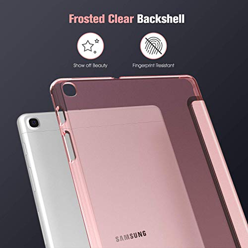 Fintie Hülle für Samsung Galaxy Tab A 10,1 SM-T510/T515 2019 - Ultradünn Schutzhülle mit transparenter Rückseite Abdeckung Cover für Samsung Galaxy Tab A 10.1 Zoll 2019 Tablet, Roségold