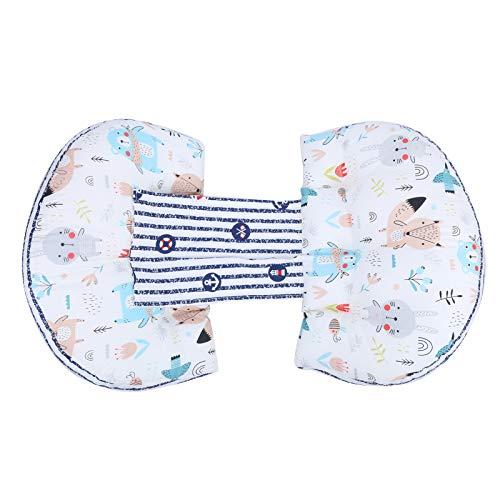 Almohada de cintura de maternidad Algodón seguro estable para mujeres embarazadas Bebés(Animal forest white)