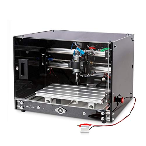 Desktop CNC Router Machine 3018-SE V2 with Enclosure, 3-Axis Engraving Milling Machine for Wood Acrylic Plastics Metal Resin Carving Arts...