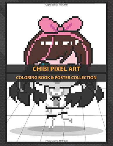 Coloring Book Poster Collection Chibi Pixel Art My Fan Pixel Art Design Of Kizuna Ai Inspired Anime Manga