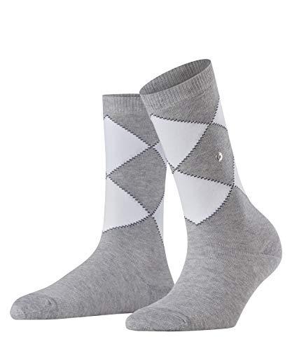 Burlington Damen Organic Argyle Socken, grau (Light Grey 3400), 36-41