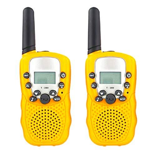 Saicowordist - Giocattoli per bambini, Walkie Talkie, radio bidirezionale con segnale multi-canale di stabilità push to talk, regalo per 5, 6, 7, 8, 9, 10, ragazzi e ragazze (giallo)