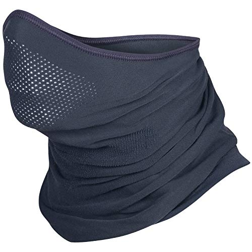 BRUBECK X-Pro Halbe Sturmhaube | Herren | Damen | Klimaregulierend | Gesichtsmaske | Sturmmaske | Funktionskleidung | Atmungsaktiv | Anti-allergisch | Antibakteriell (Dunkelgrau, L - XL)