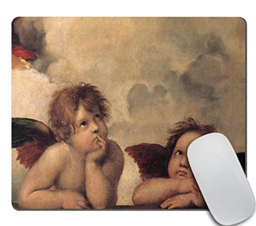 Amcove Decorative Mouse Pad Art Print Painting Raphaels Angels Cherubs Neoprene Rubber Mouse Pad Desktop Mousepad Laptop Mousepads Comfortable Comput