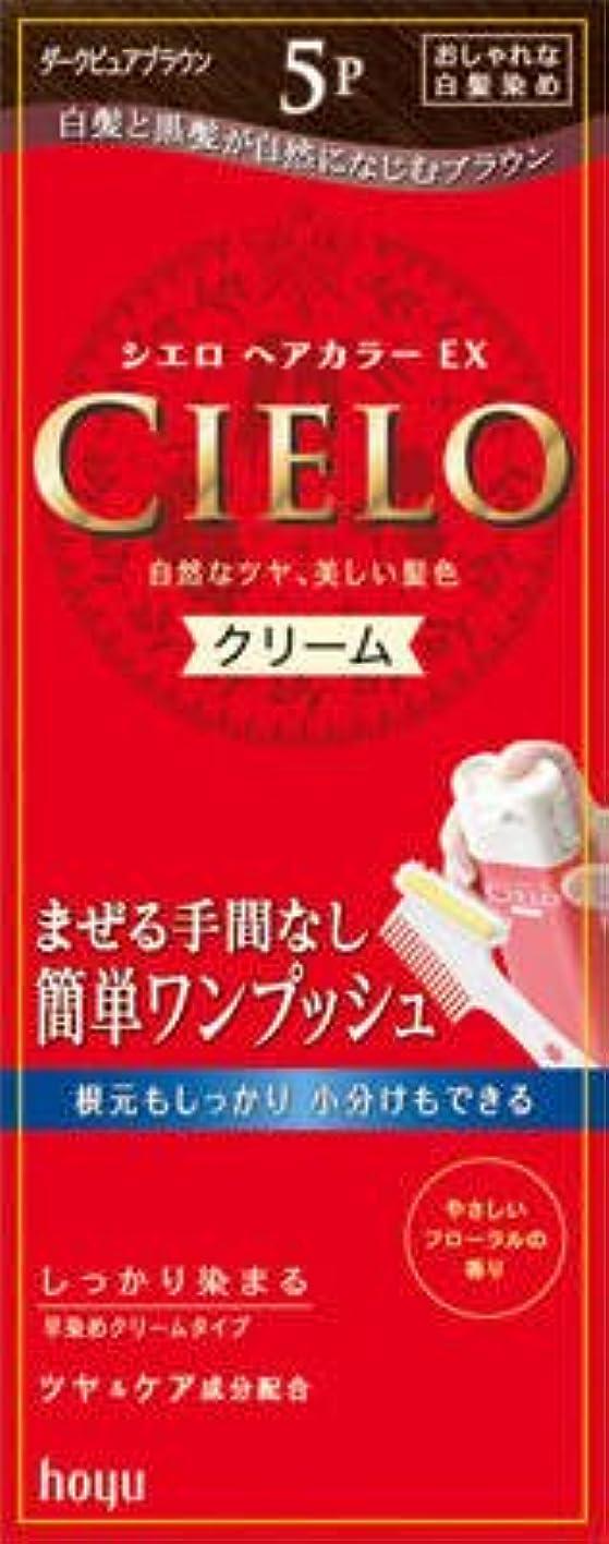 関数にんじん敬礼ホーユー シエロ ヘアカラーEX クリーム5P (ダークピュアブラウン)×27点セット (4987205284724)
