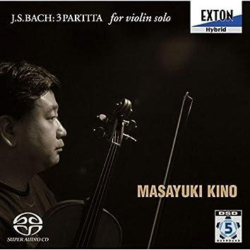 J.s.bach : 3 Partitas For Violin Solo